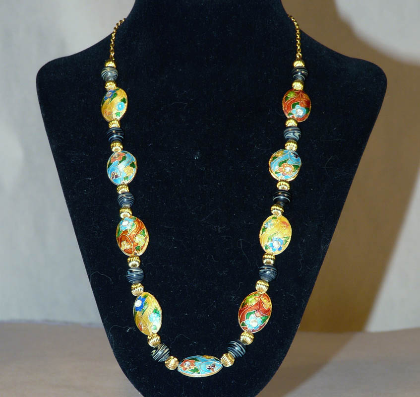Cloisonne with Chain