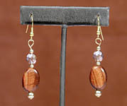 Agate Earrings with Capri Gold