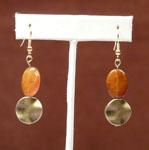 Orange & Bronze earrings