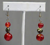 Red and Bronze Earrings